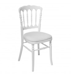 Location  Chaise Napoléon blanche assise blanche