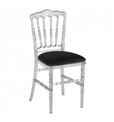 Location  Chaise napoléon cristal assise noire