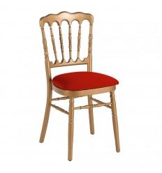 Location  Chaise napoléon doré avec assise bordeau