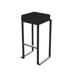 Location  Tabouret kubo haut noir avec assise noire