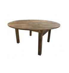 Location  Table bois massif vintage ronde pour 8 - 10 personnes