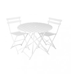 Location  Ensemble mobilier jardin square latte blanc