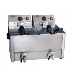 Friteuse double 16 litres