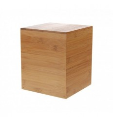 Location  Rehausse bambou cube nature 17cm