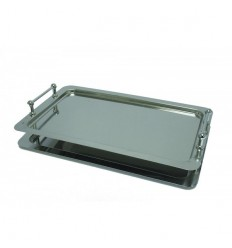 Location  Plateau rectangulaire empilable inox