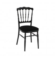 Location  Chaise napoléon noire assise noire