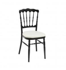Location  Chaise napoléon noire assise blanche