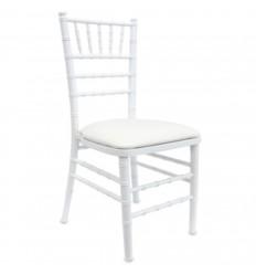 Location  Chaise chiavari blanche avec assise blanche